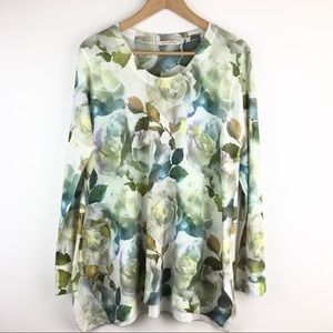 Soft Surroundings   Watercolor Floral Sweater